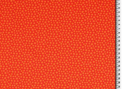 Punkte orange rot Organic Jersey Baumwolljersey Meterware Stoff