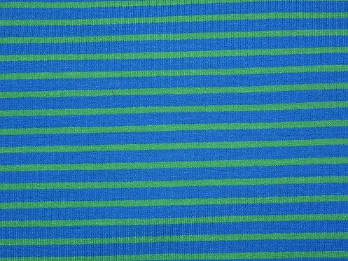 Jersey Streifen blau hellgrün  Meterware gestreift Ringel