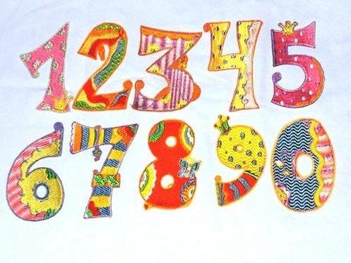 Zahl Aufnäher in Wunschfarbe