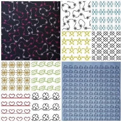 Cover - einfache Muster zum Stoff besticken 13x18cm