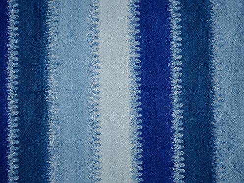 Kuschel Stoff Acryl Patchwork Meterware blau hellblau