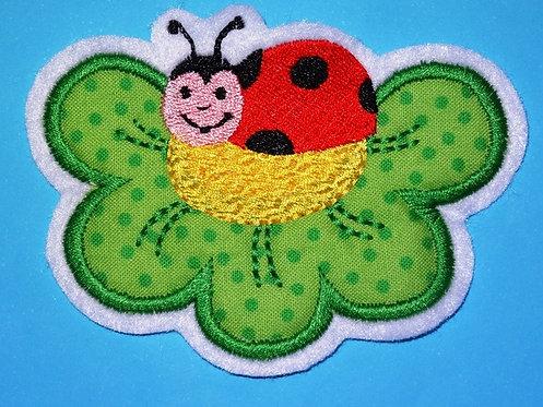 Käfer auf dem Blatt Aufnäher
