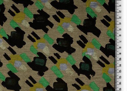 Strick Jersey Meterware edel Jersey edel Designer grau grün
