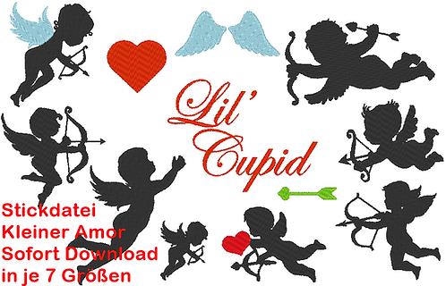 Stickdatei Amor Silhouette Cupid Hochzeit