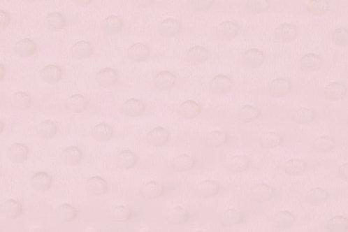 Bubble Fleece Baby zartrosa uni Meterware weich zart