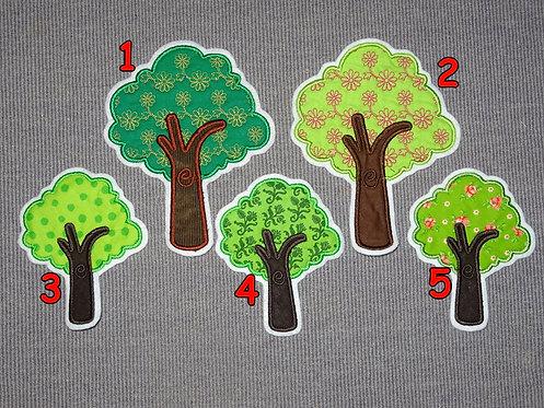 Baum in Wunschfarbe Aufnäher Applikation Handmade