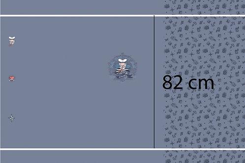 Matrose Maritim Grau blau Panel Jersey Baumwolljersey