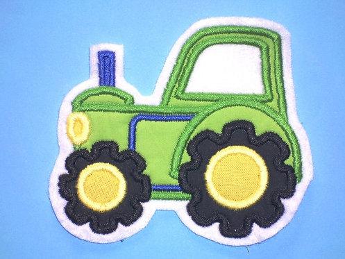 Traktor Aufnäher grün