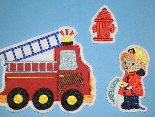 3er Set Feuerwehr Aufnäher