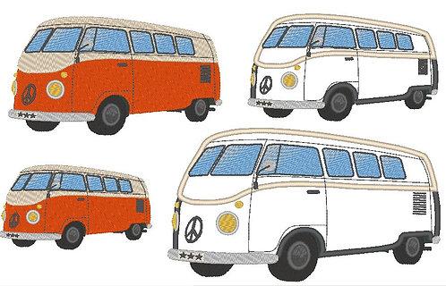 Bus Hippiebus Campingbus inkl. Kissen ITH Stickdatei