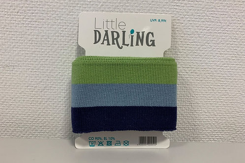 Fertigbündchen little Darling 150cm x 6cm hellgrün hellblau dunkelblau