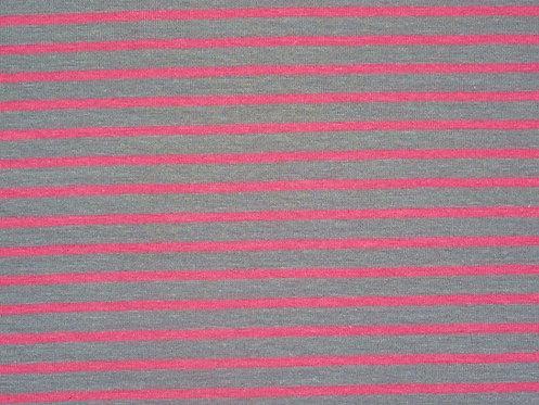 Jersey Streifen hellgrau rosa Meterware gestreift Ringel