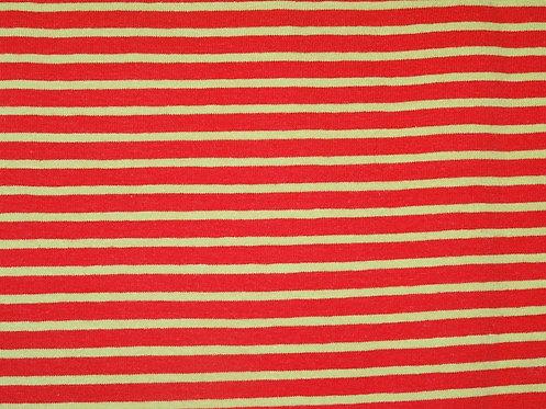 Jersey Streifen rot hellgrün Meterware gestreift Ringel