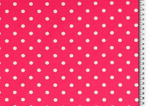 Punkte 7mm pink weiß Jersey Baumwolljersey Meterware