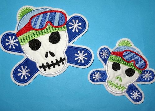 Snow-Board-Skull Aufnäher