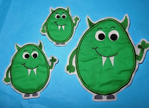 Monster grün Aufnäher