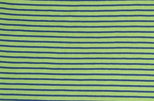 Campan Jersey Streifen hellgrün dunkelblau Meterware gestreift Ringel