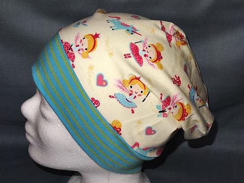Beanie Fee Einhorn bunt Mütze Handmade genäht Jersey Mädche