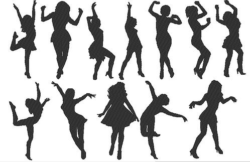 Tanz Dancing 2.0 Silhouette Stickdatei