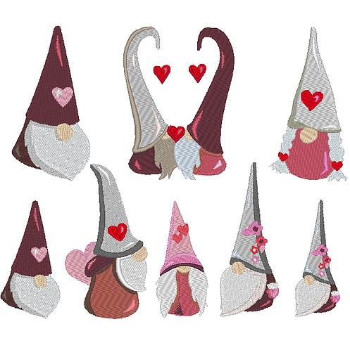 Herz Gnome Zwerg Stickdatei Valentinstag