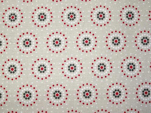 Kreise auf beige Tante Ema Baumwolle