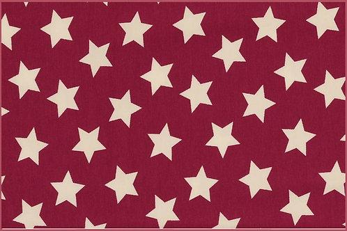 Sterne 2,5cm magenta weiß Jersey Baumwolljersey Meterware