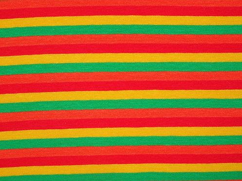 Jersey Streifen 6mm gelb grün orange rot Meterware