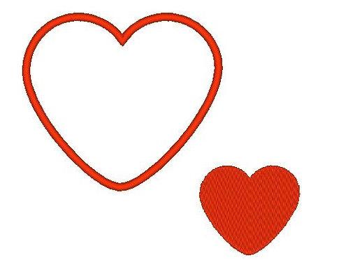Herz Liebe Stickdatei gefüllt Appli