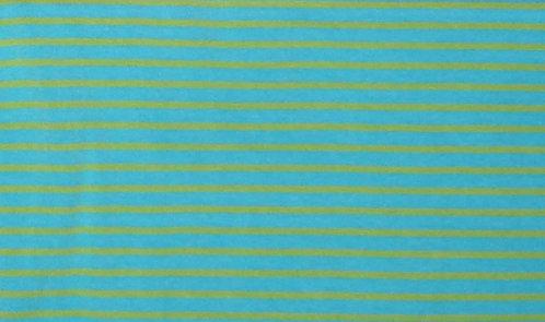 Campan Jersey Streifen türkis hellgrün Meterware gestreift Ringel