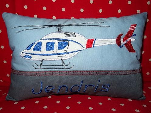 Hubschrauber Namenskissen in Wunschfarbe