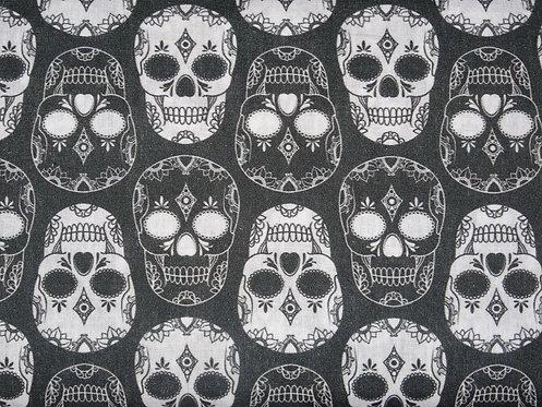 Skull Totenkopf Baumwolle Meterware Baumwollstoff Webware