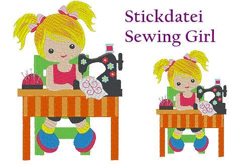 Sewing Girl - Näh Mädchen Stickdatei