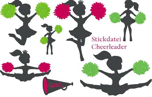 Cheerleader Stickdatei
