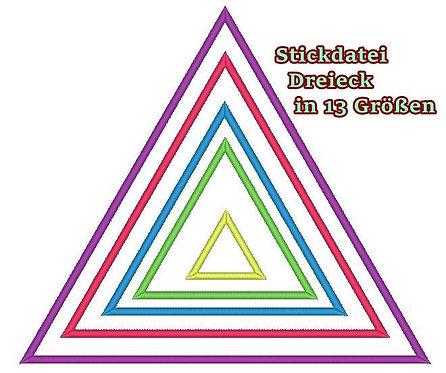 Dreieck Rahmen Stickdatei in 13 Größen