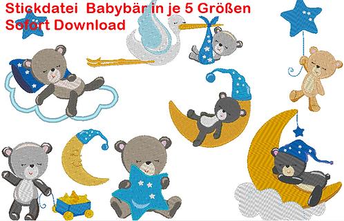 XXL Set Baby Bär Stickdatei