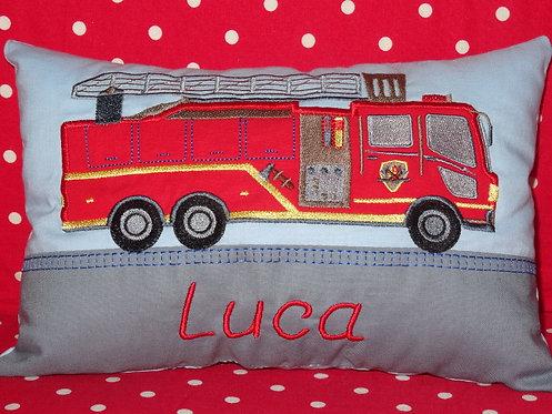 Feuerwehr Namenskissen in Wunschfarbe