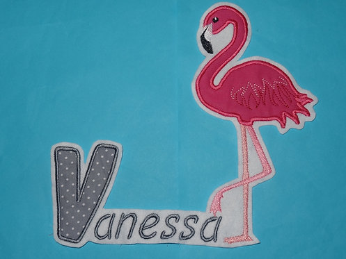 XL Flamingo mit Name