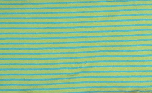Campan Jersey Streifen hellgrün türkis Meterware gestreift Ringel