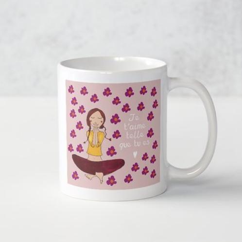 """Mug """"Je t'aime telle que tu es """""""
