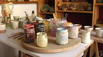 couleurs pour le décor des poteries