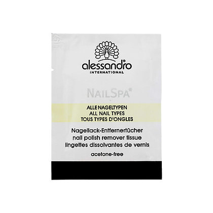 alessandro Nail Spa Lotus Polish Remover Tissue - 10 PCS