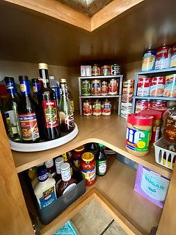 Finished corner cabinet