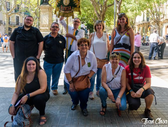 La S.C. La Llanterna es suma a l'ofrena floral de Barcelona