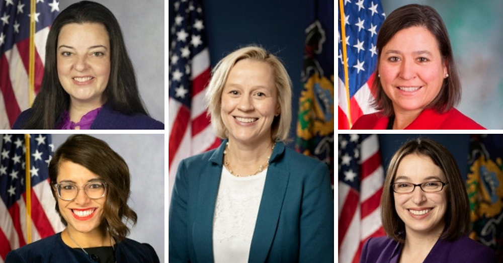 Collage of women recently elected to the PA legislature