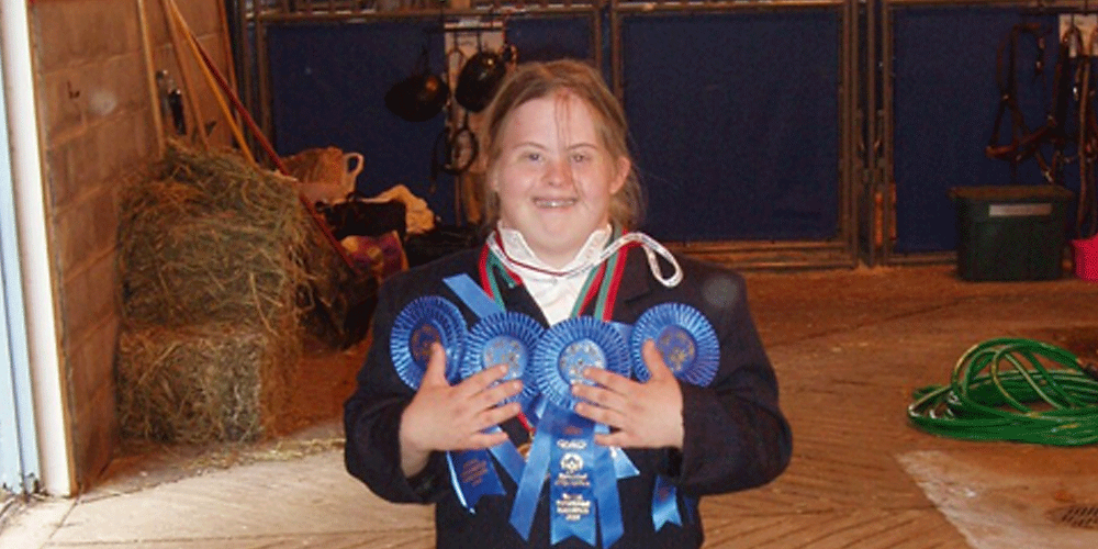Katie McCurdy with Horseback Riding Awards