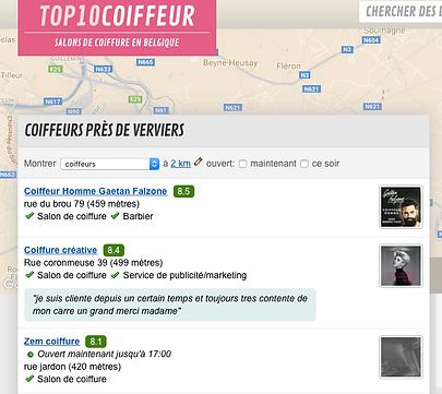 meilleur coiffeur à verviers élus par top 10 coiffeur belgique