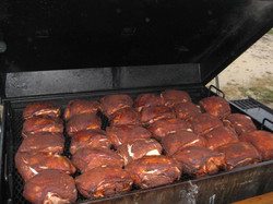 A whole bunch of Boston butts