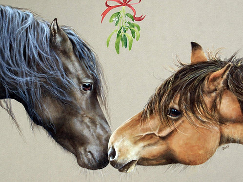 Highland Pony Christmas Cards by Lesley Lord