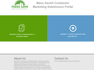 Mass Save Contractor Marketing Submission Portal