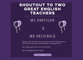 SHOUT-OUT TO TWO GREAT ENGLISH TEACHERS